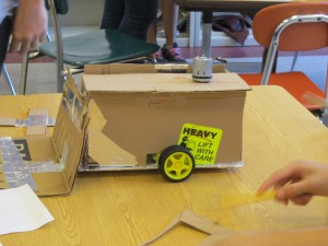 One of the many robots built by the kids
