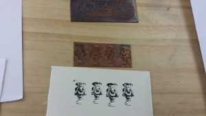 Etching design and print