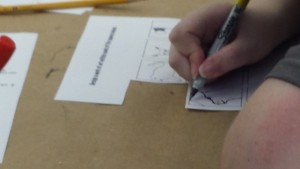 Students draw their own designs