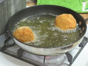 The 'suppli al telefono' is cooking!