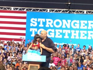 Mayor John Fetterman with his daughter