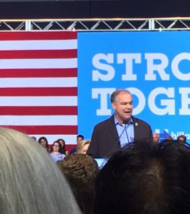 Vice Presidential nominee Tim Kaine speaks about Hillary Clinton